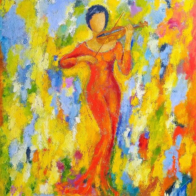 """Lene Schmidt-Petersen: """"Sommer"""" (120x150 cm)"""