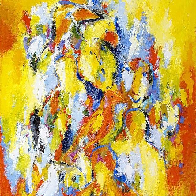 """Lene Schmidt-Petersen: """"Farvens forlængelse ind i dagen"""" (80x100 cm)"""