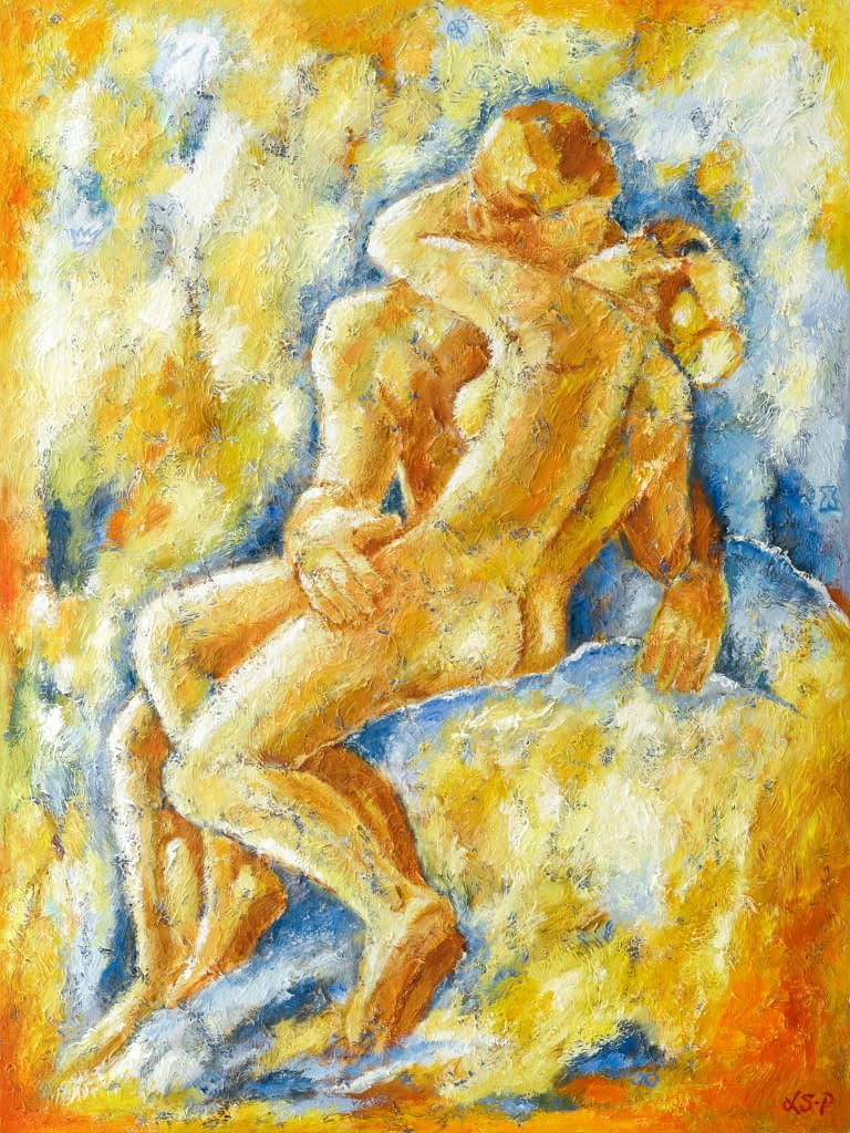 "Lene Schmidt-Petersen: ""Kysset"" (90 x 120 cm)"