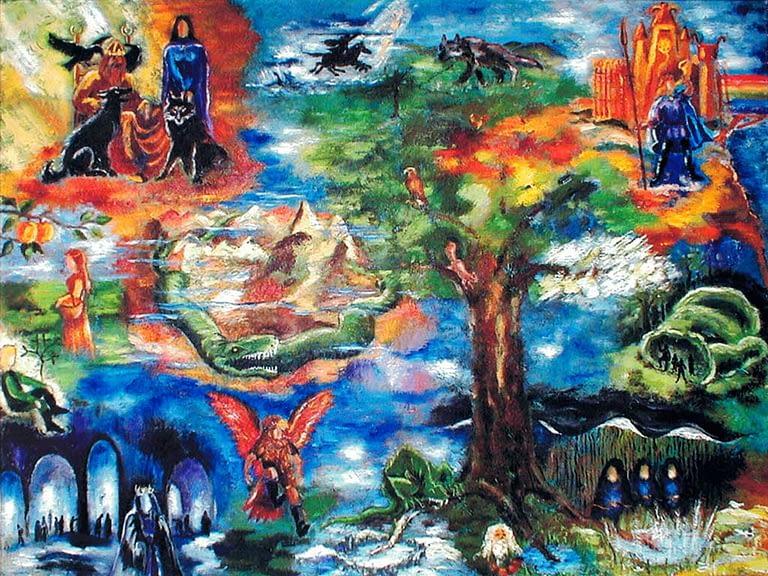 Udsmykning med den nordiske mytologi til Ferritslev Friskole