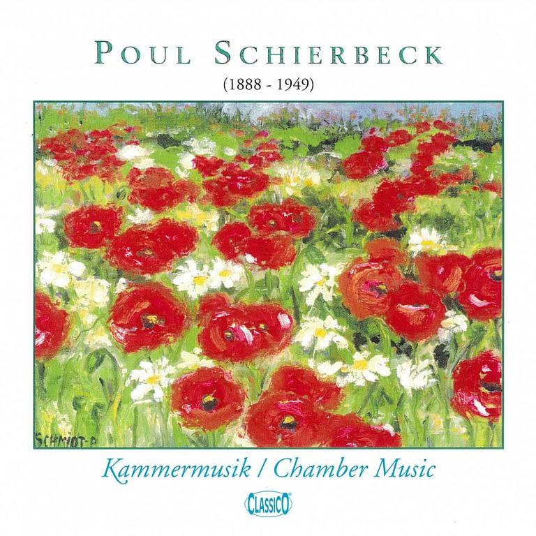 """CD cover, Elsebeth Elmedahl synger Schierbeck sange - maleriet hedder """"Kristines valmuemark"""" efter datteren"""