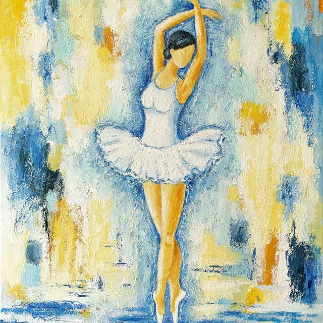 """Lene Schmidt-Petersen: """"Ballerina"""" (60x80 cm)"""