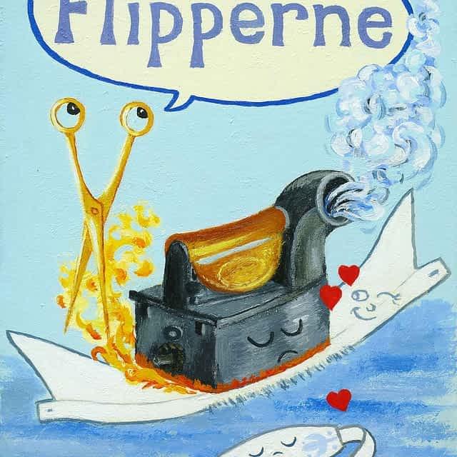 "Lene Schmidt-Petersen: ""Flipperne"" (30x40 cm)"