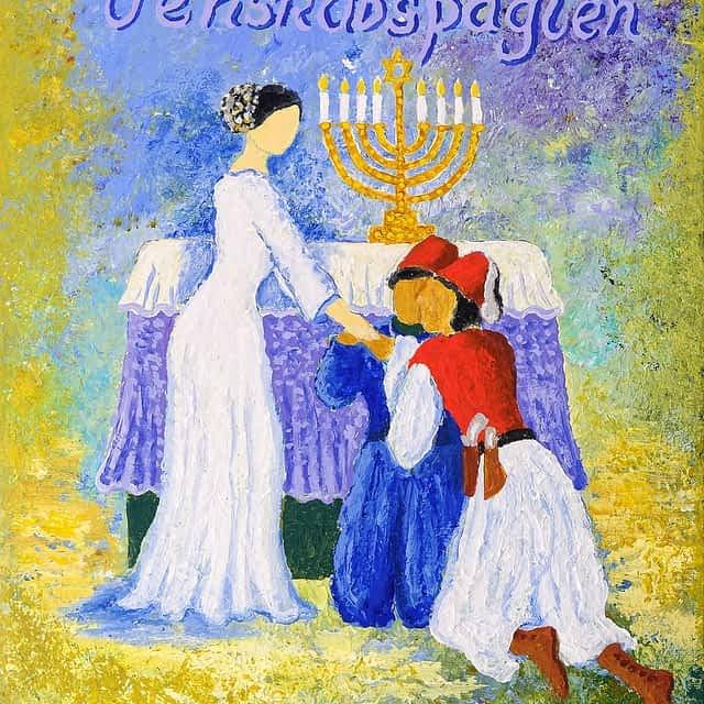 """Lene Schmidt-Petersen: """"Venskabspagten"""" (30x40 cm)"""