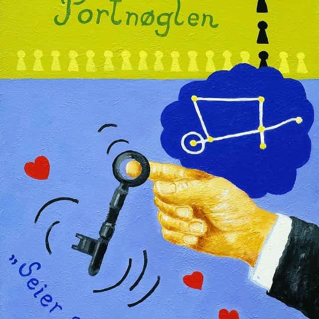 """Lene Schmidt-Petersen: """"Portnøglen"""" (30x40 cm)"""