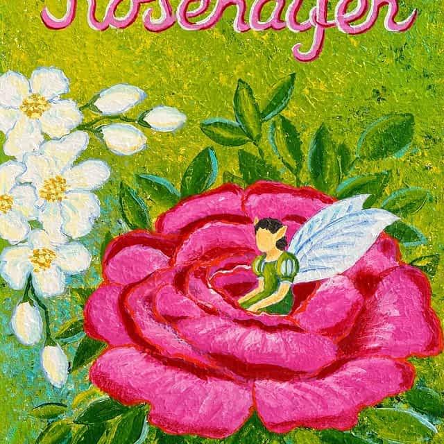 "Lene Schmidt-Petersen: ""Rosenalfen"" (30x40 cm)"