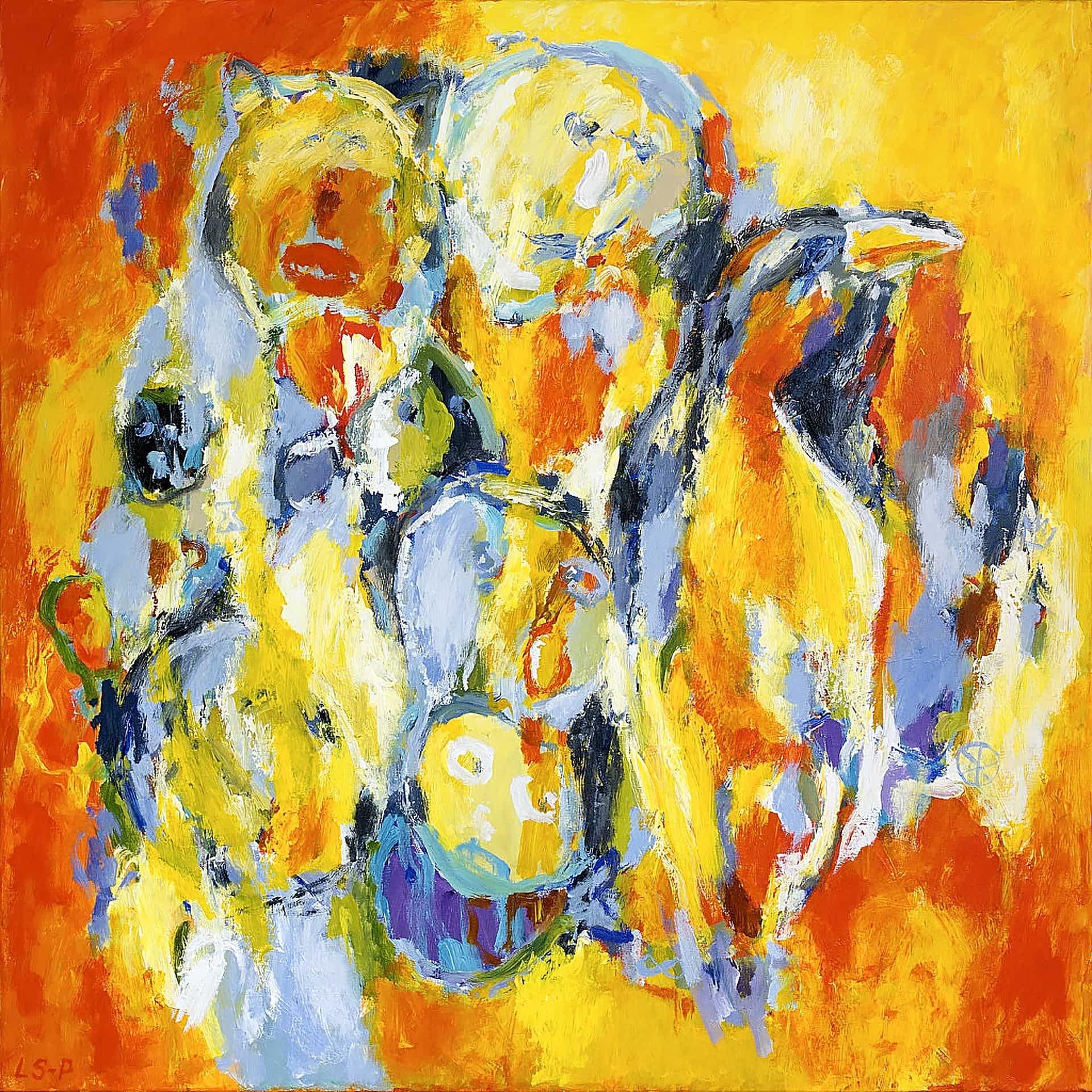 """Lene Schmidt-Petersen: """"På kanten af uendeligheden"""" (100x100 cm)"""