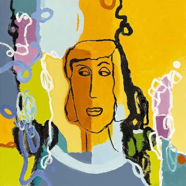 """Lene Schmidt-Petersen: """"Johanne Marie"""" (60x60 cm)"""
