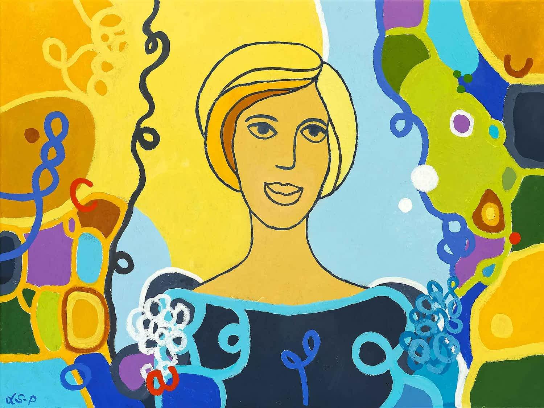 "Lene Schmidt-Petersen: ""Cecilie"" (80x60 cm)"