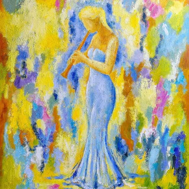 """Lene Schmidt-Petersen: """"Forår"""" (120x150 cm)"""
