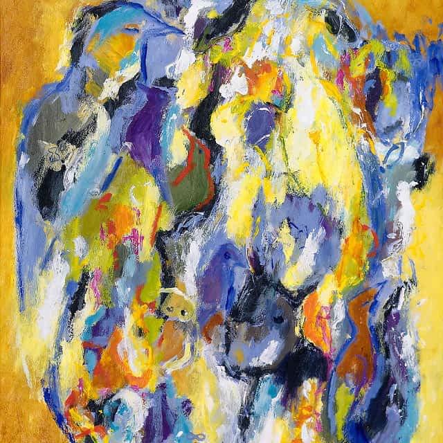 """Lene Schmidt-Petersen: """"Lyset hvisker gennem dagen"""" (70x90 cm)"""