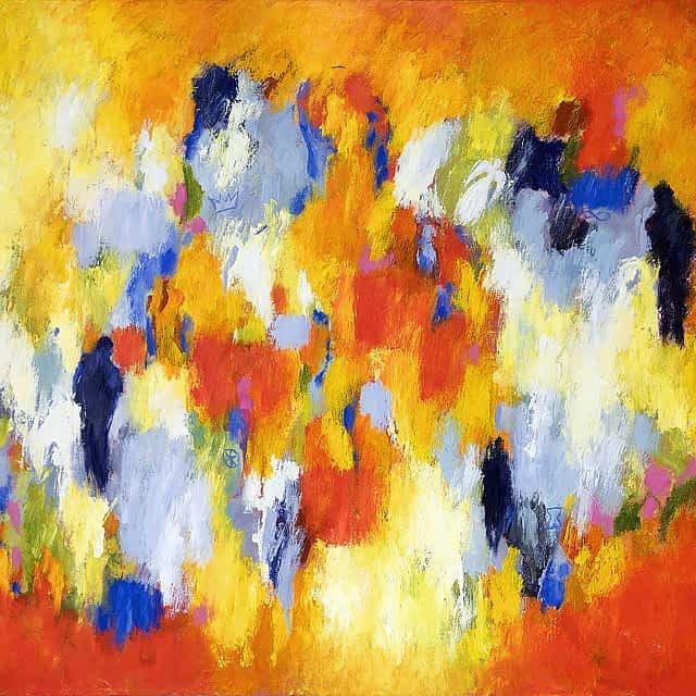 """Lene Schmidt-Petersen: """"Toner fra det kærlige rum"""" (100x80 cm)"""