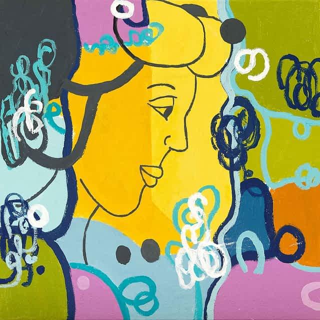 "Lene Schmidt-Petersen: ""Barbara"" (50x50 cm)"
