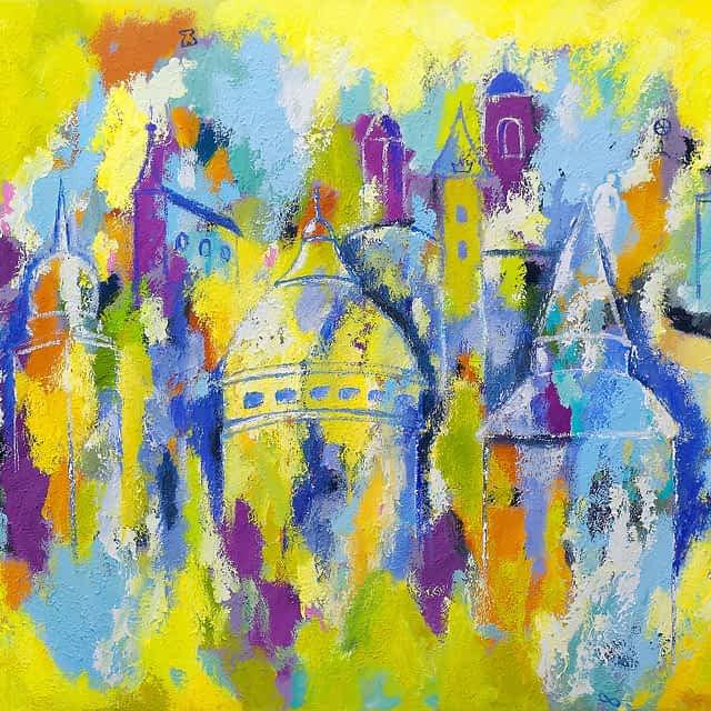 """Lene Schmidt-Petersen: """"Rom i abstraktion"""" (120x90 cm)"""